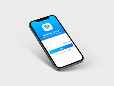 Curbox login minimalist blue ux application apps mobile curbox