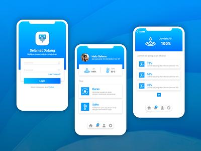 Curbox App blue design application mobileapp mobile smartdevice aquascape home smart