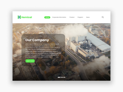 Chemical Factory Landing Page green web website page landing factory chemical