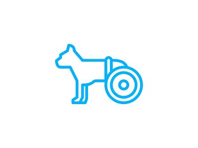 Dog Wheel Icon line outline dog puppy icon pet icon animal icon symbol pictogram wheel for dog artificial leg bionic leg dog icon line icon outline icon icon