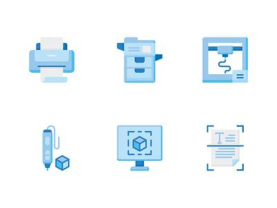 Printing Icon 3d pen photocopy 3d printing printing icon printer icon print icon icon line icon outline illustration icon set flat icon icon