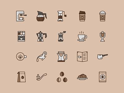 Coffee Shop Icon Set icon set illustration coffee logo coffee shop flat  design symbol retro coffee flat icon iconfinder outline icon