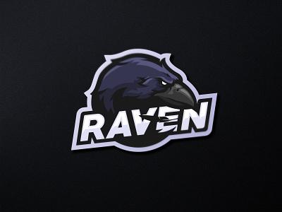 Raven Mascot Logo gaming sport logo esport logo esportlogo mascot design ravendesigns raven ilustration branding mascot logo mascotlogo mascot