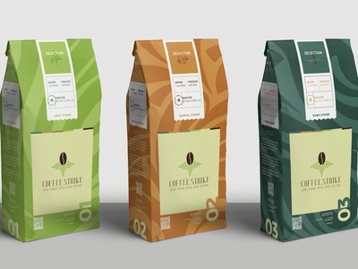 Coffee Pouch Packaging, Branding for Coffee Strike