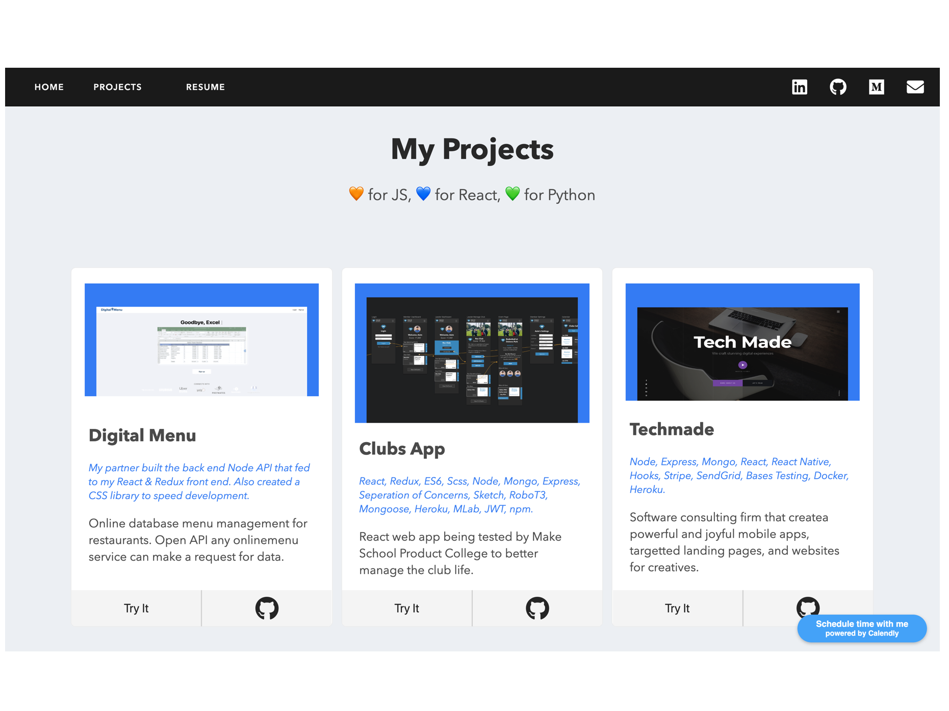 Personal Website Projects Page Redesigned by Asim Zaidi on Dribbble