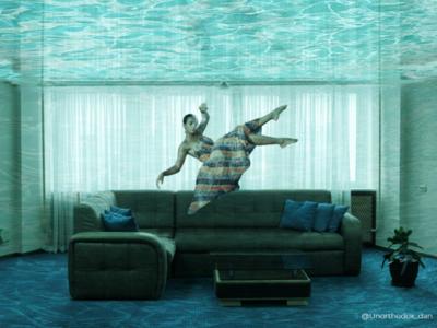 Submerged.