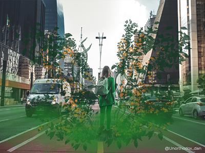 The Green Cometh. photoshop digitalart composite