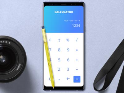 #DailyUI 004: Design a Calculator