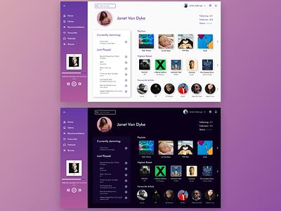 #DailyUI 006: Design a user profile. figma uidesign userprofile streaming music dailyui