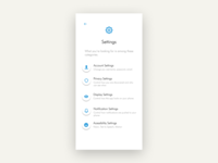 #DailyUI 007: Design a settings page.