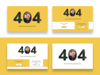 #DailyUI 008 Design a 404 error page.
