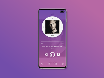 #DailyUI 009: Design a Music Player.