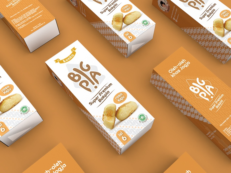 Box Packaging Bakpia (Cheese) product design brand design logo cookies design packaging print food packaging branding design box packaging packaging design branding 3d rendering