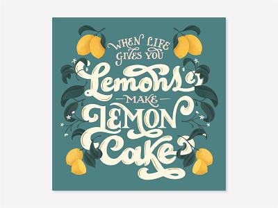 Lemons procreateapp letteringartist foodillustration graphicdesign hand lettering procreate illustration design typography lettering