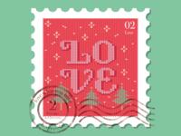 Christmas stamp, day 2
