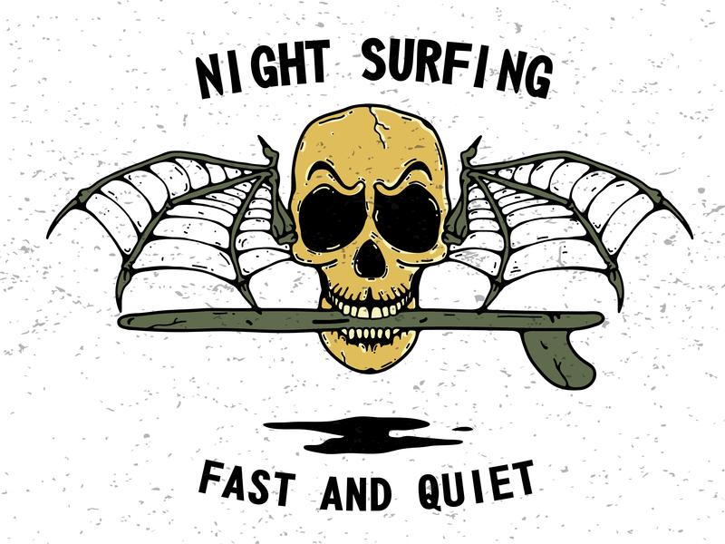 Batman Skull surf art skull art vector graphic graphic  design graphic art illustration