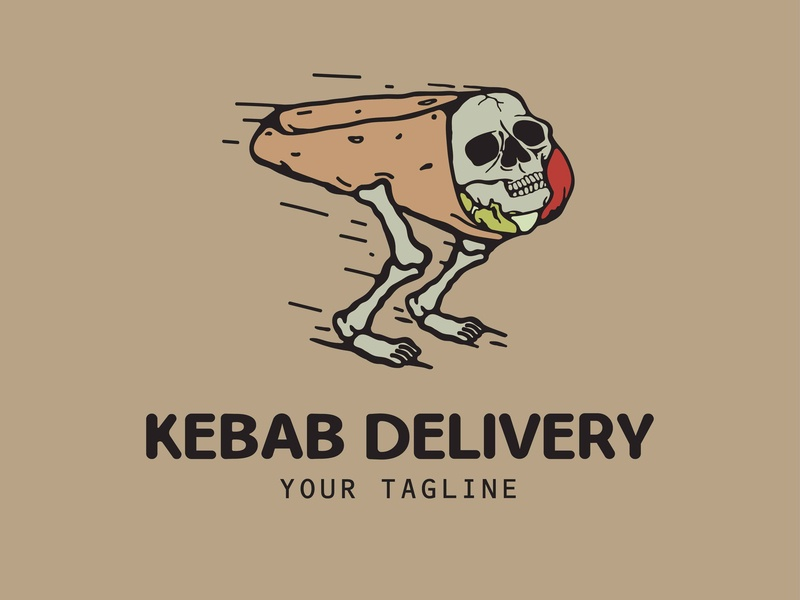 kebab delivery branding logo grapic design graphic vector graphic  design graphic art illustration
