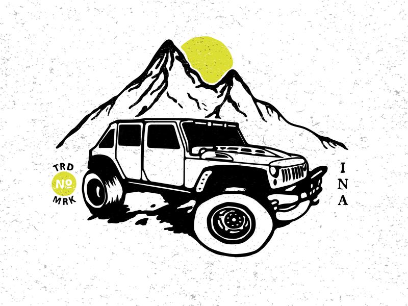 Jeep logo design branding grapic design graphic vector graphic  design graphic art illustration