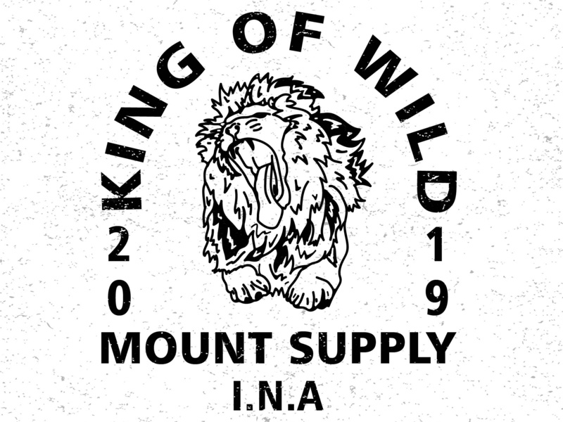 king of wild logo design branding grapic design graphic vector graphic  design graphic art illustration