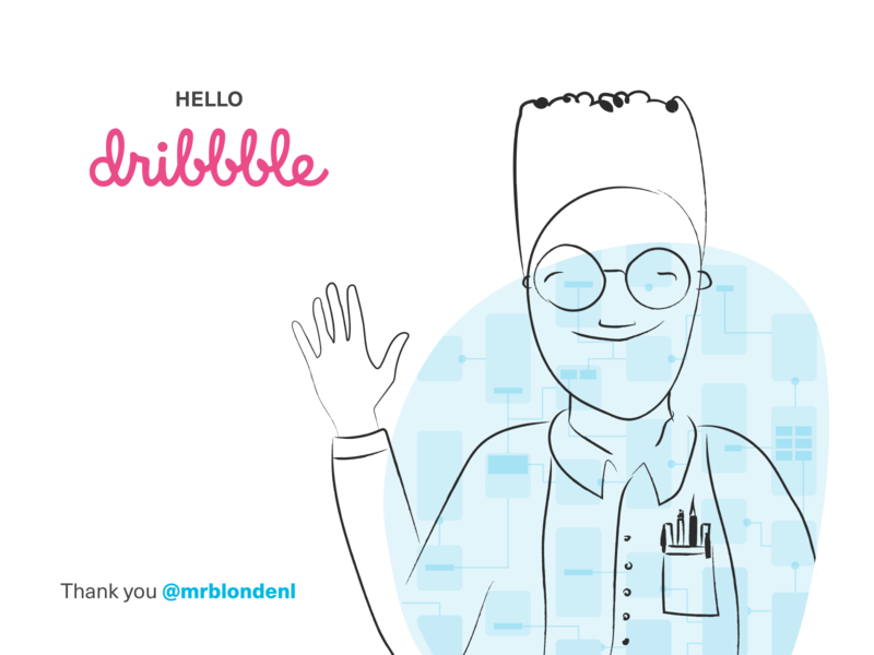 Hello Dribbble, I'm Zinzy! illustrator vector hello invite designer design debut shot not throwing away my shot shot dribbble identity hello dribbble creative direction debut character design wireflow dribbble drawing illustration doodle character