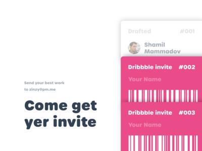 Come get yer invite