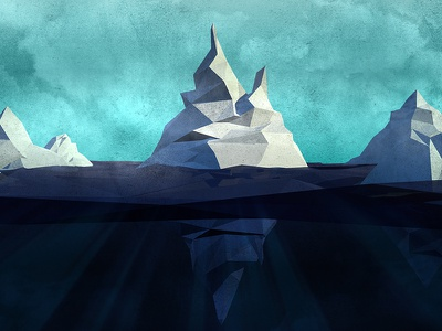 Low poly iceberg iceberg lowpoly render 3d cinema4d c4d aftereffects ae arctic greenpeace water ice