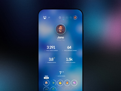 Mongobox – Profile 👁 uidesign uiux responsive blurry mobile blurred background grid sound website spotify avatar profile blur typography app web ux interface concept ui