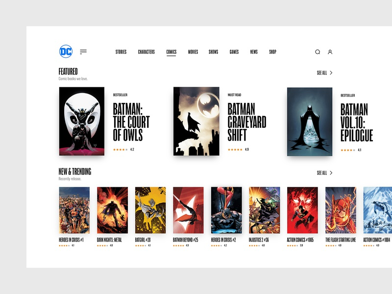 Comic Books Store Concept Desktop