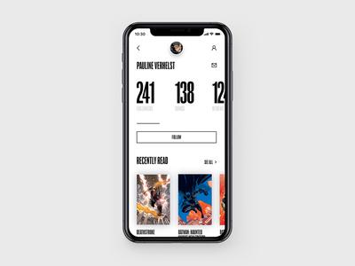 DC Concept – Profile page