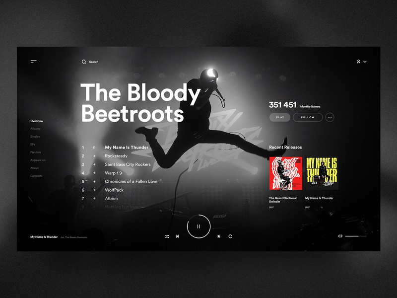 Spotify Redesign Concept 🎧⚡️ app redesign concept dark player design sound music spotify interface web ux ui