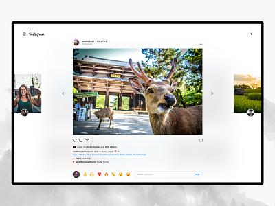 Instagram Desktop – Post ✨ menu grid ui ux web interface design concept redesign stories photos ig post insta instagram