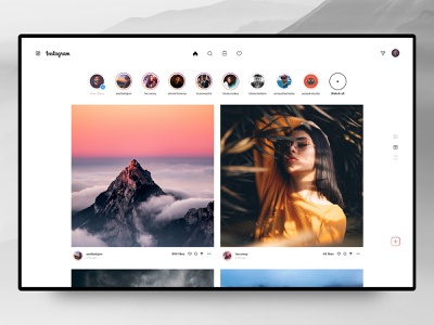 Instagram Desktop Redesign – Case 🚀 case studies case discover grid ui ux web interface design concept redesign stories photos ig post insta instagram story profile