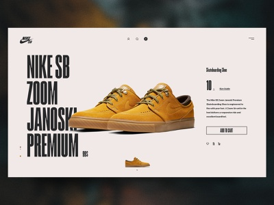 Nike SB - Product Page Concept detail skateboard design online store flat clean product page nike shoe shoes shop ecommerce grid redesign concept web ui ux interface