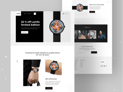 Watch E-commerce UI homepage app food clean design ecommerce design ui e-commerce app e-commerce website dribble best shot design ecommerce