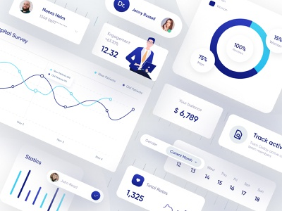 Creative UI (Health Care Dashboard elements) homepage ecommerce clean design ecommerce design website ui webapplication webapp design dashboard app dashboard ui clinics healthcare product page product design
