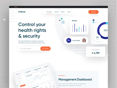 Creative UI (Health care 02).jpg agency homepage clean design app ecommerce website dashboard design dashboard ui product product page ui healthcare app health app health care