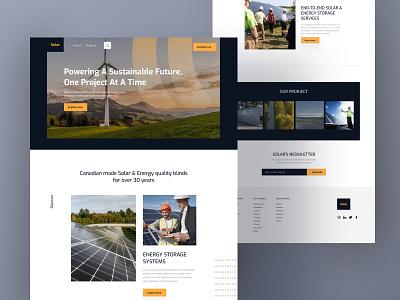 Creative UI (Renewable energy) ecommerce design landing page design landing page homepage food agency ecommerce clean ui minimal clean design website ui