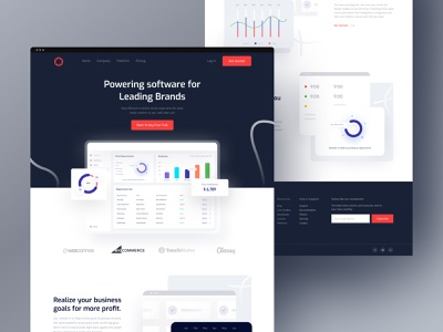 Software Landing Page (Creative UI) illustration food real estate homepage ecommerce agency website software software company software design clean design ui