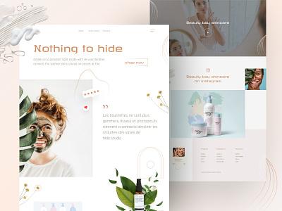 Organic skincare product agency food branding homepage ecommerce design ecommerce beauty salon beauty product beauty app clean design website ui