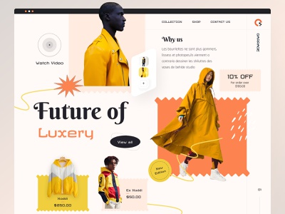 E-commerce web homepage uidesign agency clean design food app ecommerce design website ecommerce ui