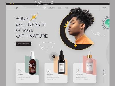 E-commerce web skincare clean ui uidesign homepage ecommerce design real estate app ecommerce food website ui