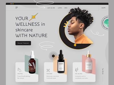 E-commerce web skincare clean ui uidesign homepage ecommerce design real estate app ecommerce food website ui
