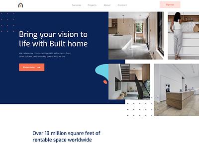 House Provider Landing page illustration homepage food clean ui app minimal design agency ecommerce design clean design website design uiux ui designer real estate