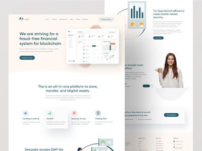 Fintech Home page design dashboard ui cryptocurrency wallet ui design marketing agency money management fitness figma fintech app fintech uiux logo uidesign minimal homepage clean ui real estate app clean design ui