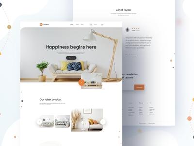 Furniture Home page Design