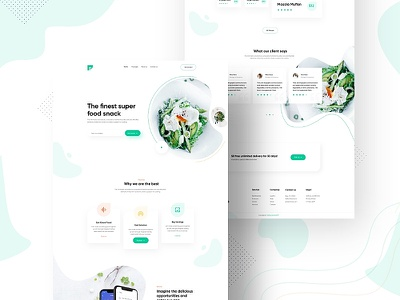 Food.co------------- Home Page Concept clean design flat food website resturent webdesign food design food app branding ui website resturant ecommerce minimal agency