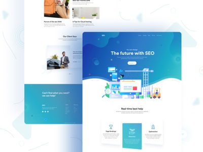 SEO Landing Page Design branding minimal website ecommerce design design ui app agency seo design seo company seo landing page seo agency