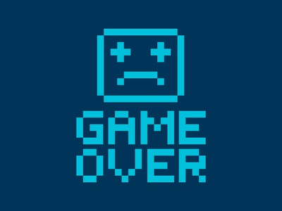 Game Over characters character design illustration pixels games video game retro