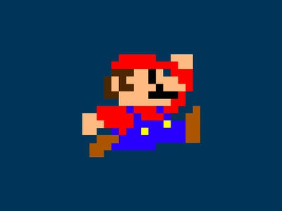 Mario characters character design illustration pixels games video game retro