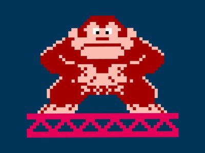 Donkey Kong characters character design illustration pixels games video game retro
